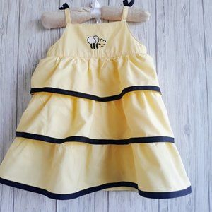 Gymboree Bee Chic Bee Tiered Ruffle Dress Size 2T